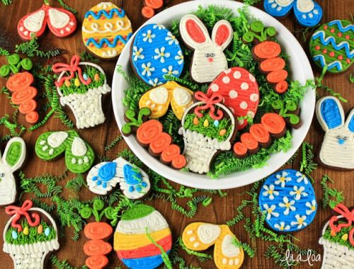 How to Make Decorated Buttercream Easter Cookies