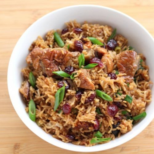 Cranberry BBQ Sauce Duck and Rice