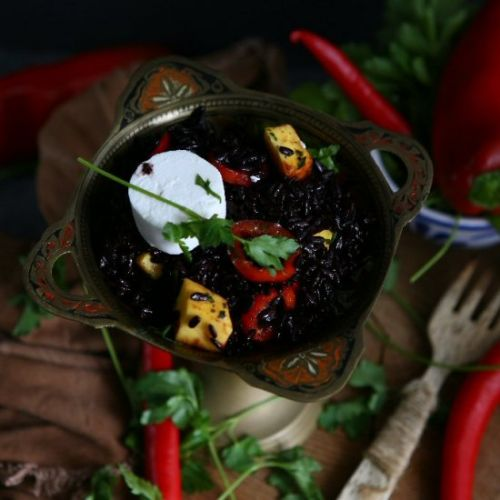 Black Rice Goat Cheese Salad