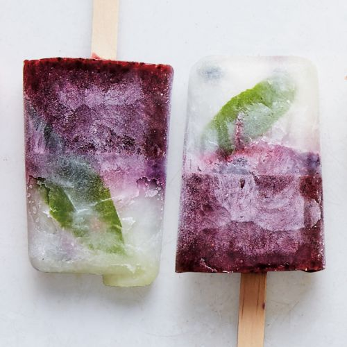 Lemon Verbena and Blueberry Ice Pops