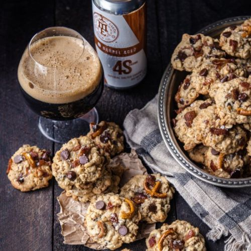 Hobo Cookies with Candied Bacon