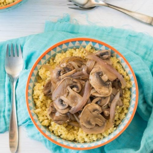 Oil-free Sautéed Mushrooms & Onions