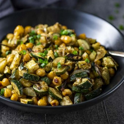 Warm Curried Chickpea Salad