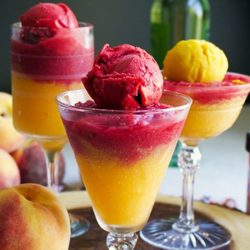 Fruity Sorbet Wine Slushies