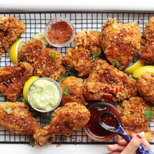 Fried Chicken with Avocado Ranch