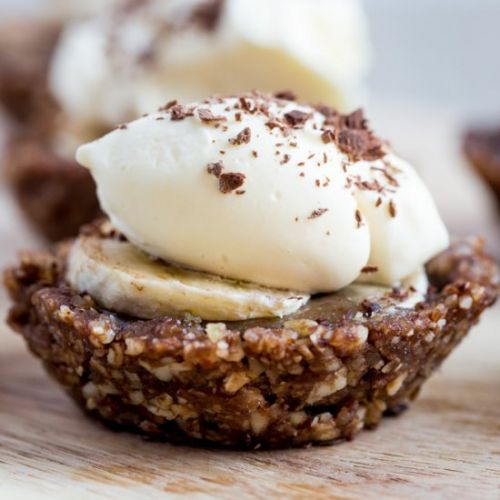 Raw Vegan Chocolate Banoffee Pies