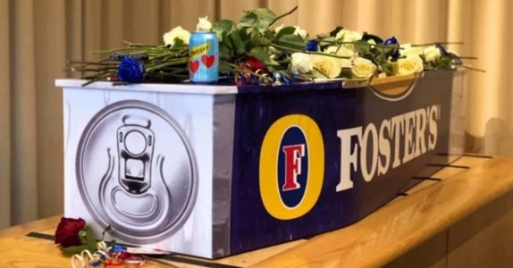 Aussie-Beer-Loving Man Buried in Fosters-Themed Coffin