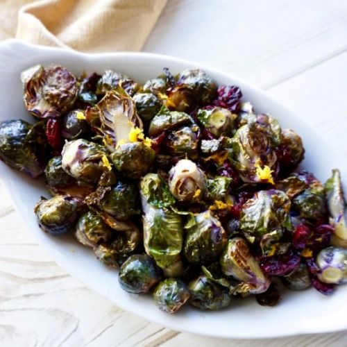 Cranberry Orange Brussels Sprouts