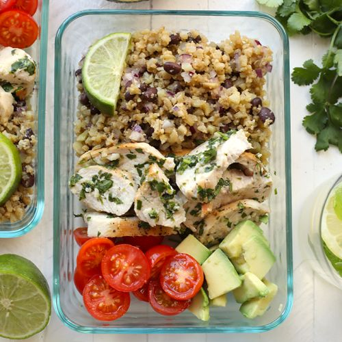VIDEO: Meal-Prep Cilantro Lime Chicken with Cauliflower Rice