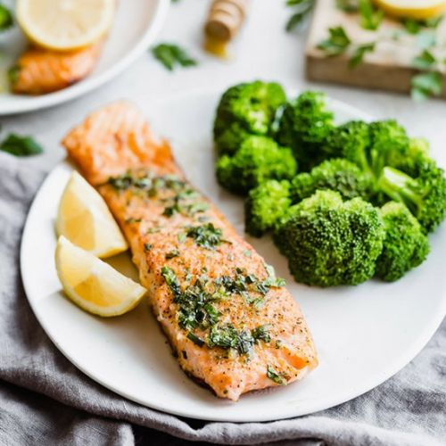 Lemon Honey Glazed Salmon