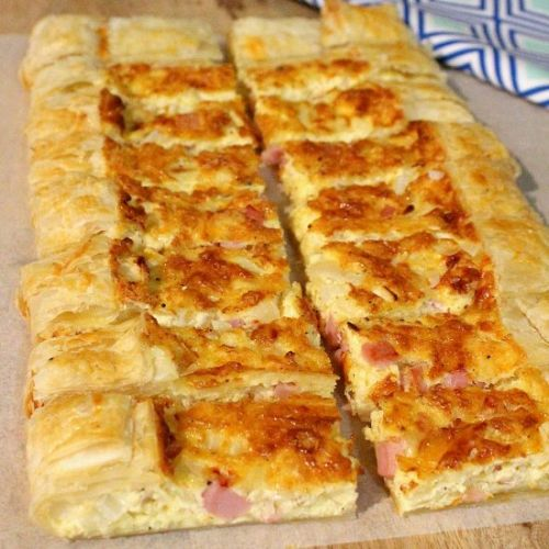 Ham and Cheese Puff Pastry Quiche