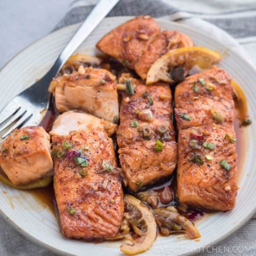 Salmon with Honey Garlic Sauce