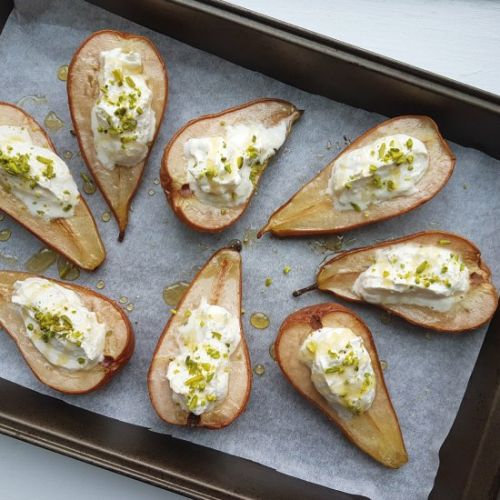 Baked Pears with Mascarpone Cream