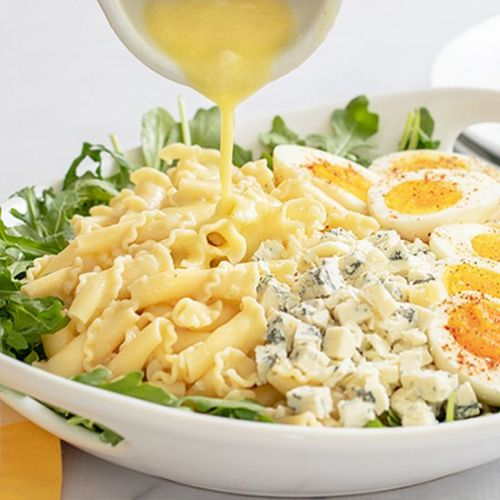 Eggs And Arugula Pasta Salad