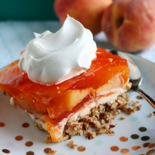 Peach Pretzel Salad
