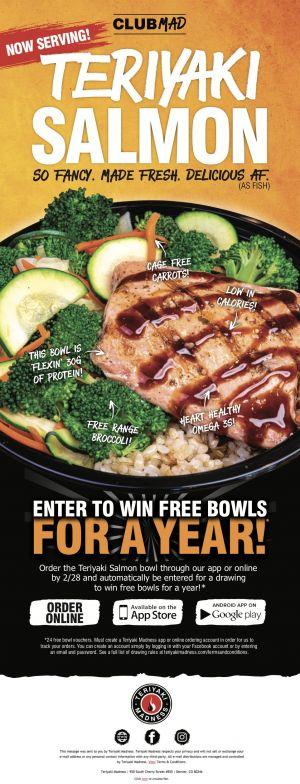 What's Up, Fishes? Salmon Arrives at All Teriyaki Madness Locations on February 11