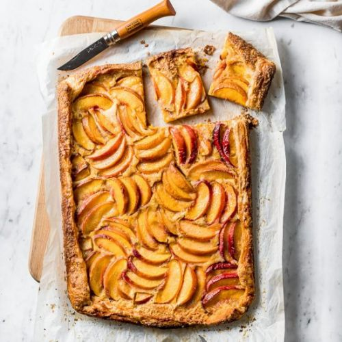 Peach Galette with Cornmeal
