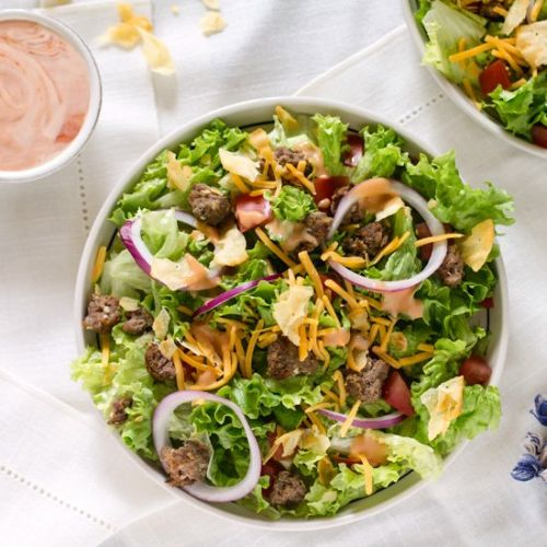 Leftover Cheeseburger Salad