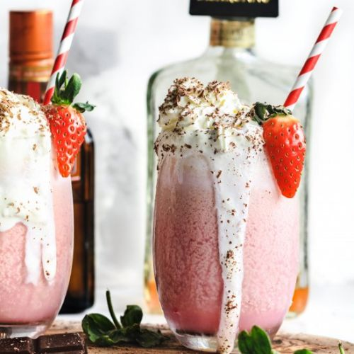 Valentines Day float cocktails
