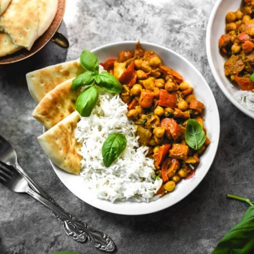 Simple Indian Masala Chickpea Curry