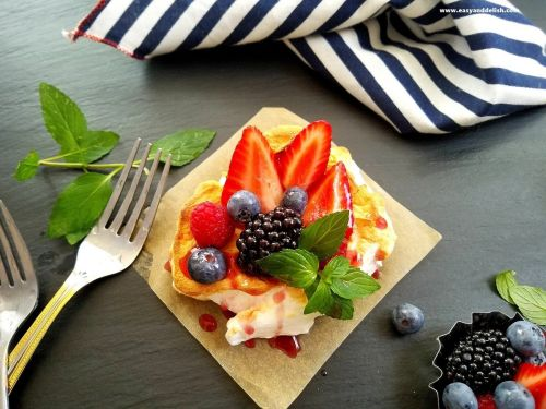 Perfect Dessert: Sweet Berry Cloud Eggs and Red Wine