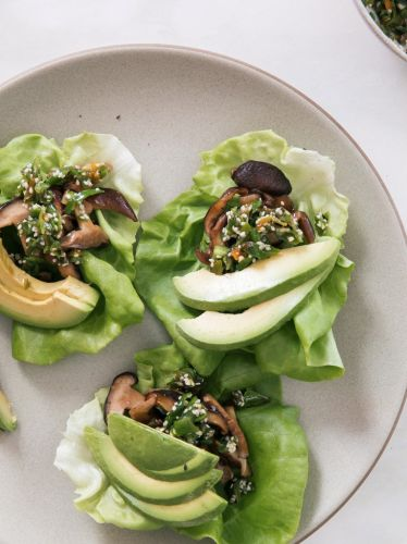 Refreshing Mushroom and Shishito Lettuce Wraps