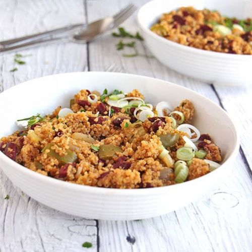 Weeknight red beans & quinoa
