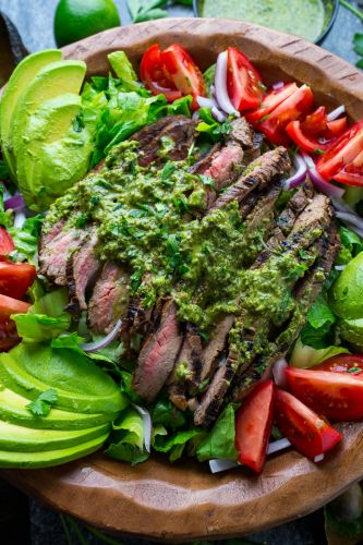 Chimichurri Steak Salad