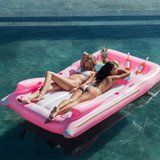 This Millennial Pink Convertible Float Has Enough Room For You, Your BFF, AND a Couple Bottles of Rosé
