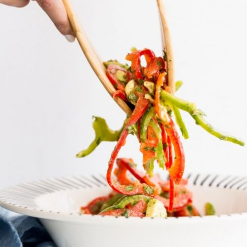 Avocado and Bell Pepper Salad