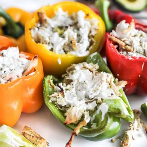 Ranch Stuffed Chicken Peppers