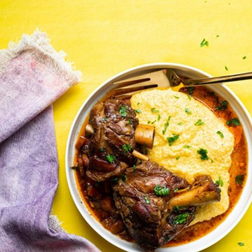 BEER BRAISED PORK SHANKS