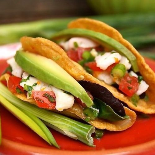 Halibut Blood Orange Ceviche Tacos