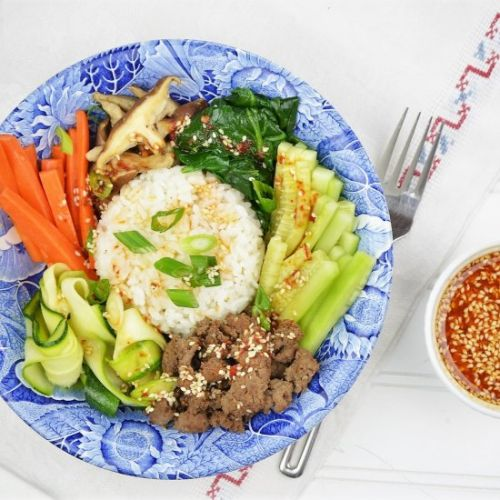 Vegetable and Beef Rice Bowl