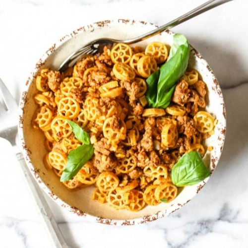 Spicy Ground Turkey Pasta