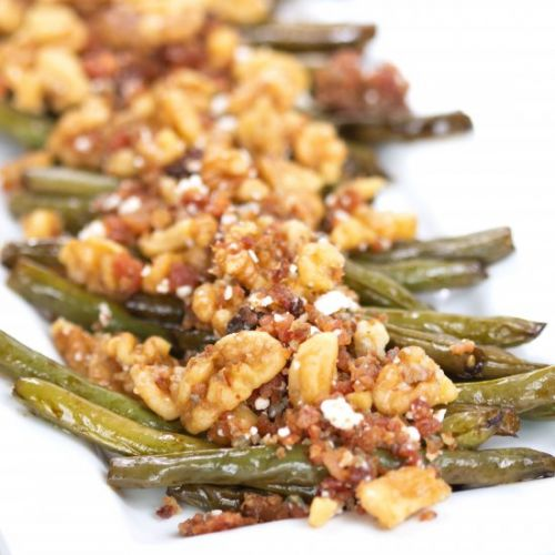 Green Bean Bacon blue cheese walnut