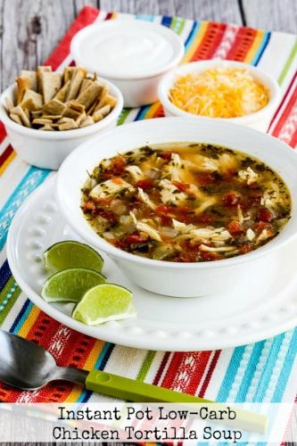 Instant Pot Low-Carb Chicken Tortilla Soup