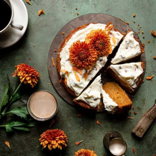 Pumpkin Cake with cream cheese