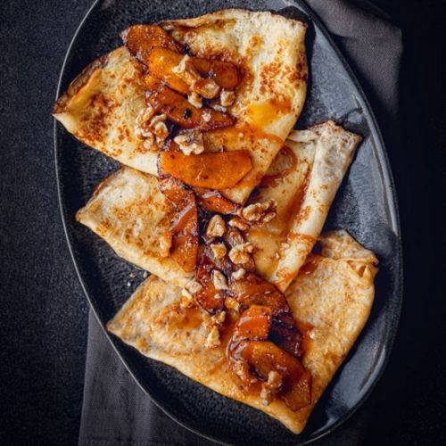 Raclette recipe: crepes with baked