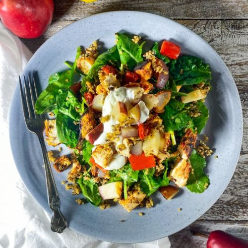 Harissa Chicken Salad with Pears