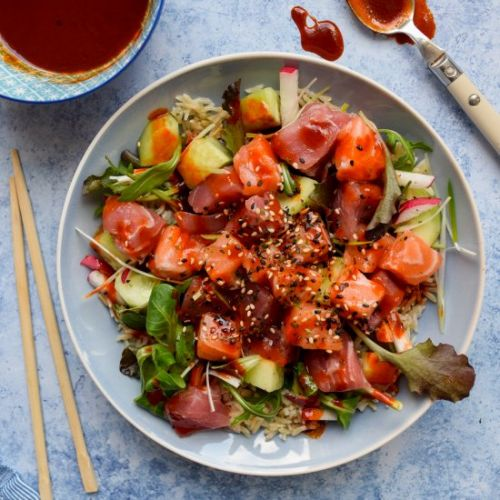 Korean Sashimi Salad