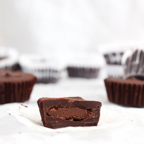 Brownie Batter Chocolate Cups