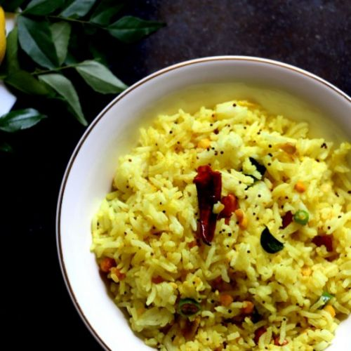Vegan lemon rice