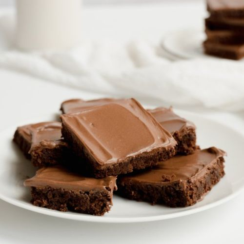 Homemade Brownies With Frosting