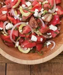 Greek Watermelon Salad by Ric Orlando