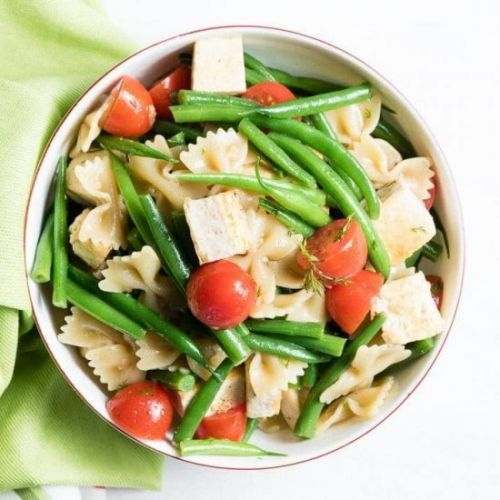 Summer Pasta Salad with Tofu