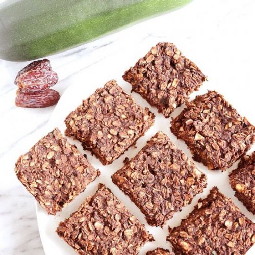 Vegan Chocolate Zucchini Baked Oats