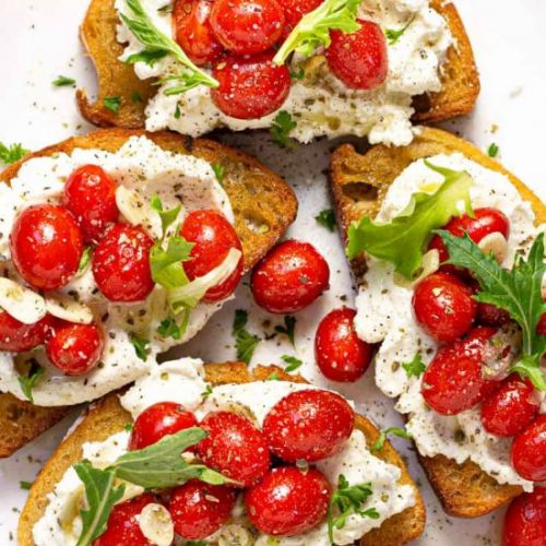 TOMATO TOAST WITH RICOTTA