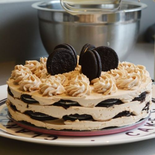 Oreo Cookies and Cream Icebox Cake