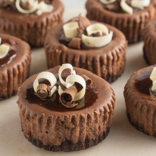 Keto Mini Chocolate Cheesecakes